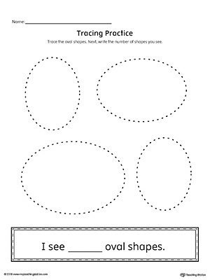 Geometric Shape Counting and Tracing: Oval