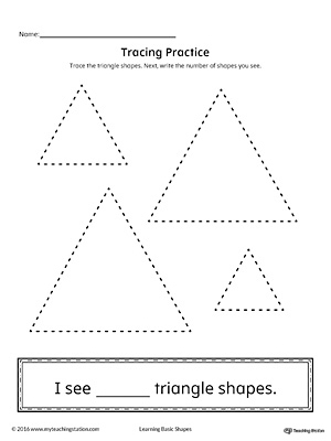 Geometric Shape Counting and Tracing: Triangle