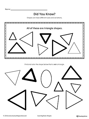Geometric Shape Sizes and Variations: Triangle