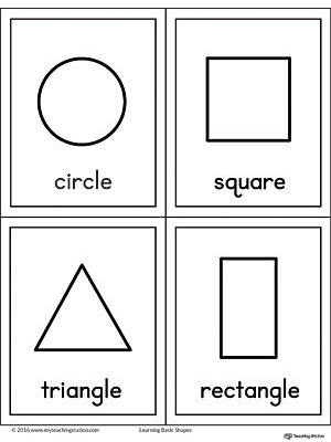 Geometric Shapes Printable Flashcards Myteachingstation