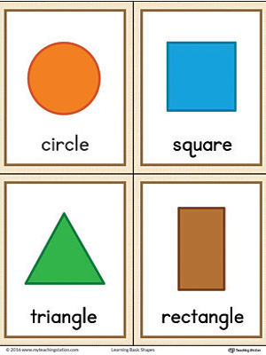 image regarding Printable Geometric Shapes called Geometric Styles Printable Flashcards (Coloration