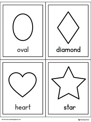 Geometric Shapes Printable Flashcards | MyTeachingStation.com