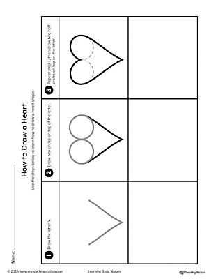 number names worksheets heart shape worksheet free printable worksheets for pre school children. Black Bedroom Furniture Sets. Home Design Ideas