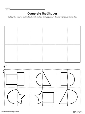 Match Shapes Cut and Paste: Rectangle, Star, Square, Triangle ...