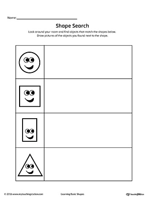 Shape Search Printable Worksheet