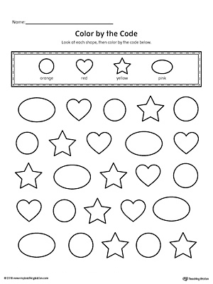 Kindergarten Art And Colors Printable Worksheets