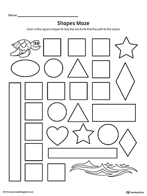 math worksheet : square shape maze printable worksheet  myteachingstation  : Square Worksheets