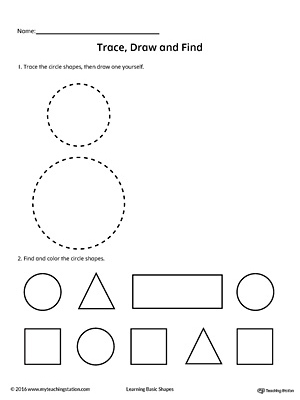 Trace, Draw and Find: Circle Shape