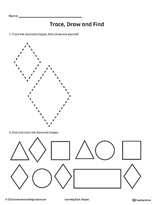 Trace Draw Search Find Geometric Shape Diamond Worksheet also Genocide Clipart Bean Seed together with Children Coloring Pages To Print together with Bookmark Pg also Spot Difference Mailman Sorting Categorizing. on preschool colouring writing worksheet