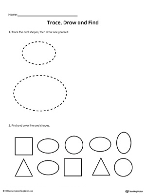 Trace, Draw and Find: Oval Shape