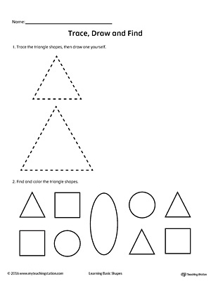 Trace, Draw and Find: Triangle Shape