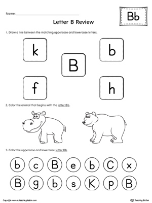 all about letter b printable worksheet  myteachingstationcom all about letter b printable worksheet