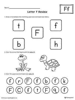 All About Letter F Printable Worksheet