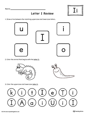 All About Letter I Printable Worksheet