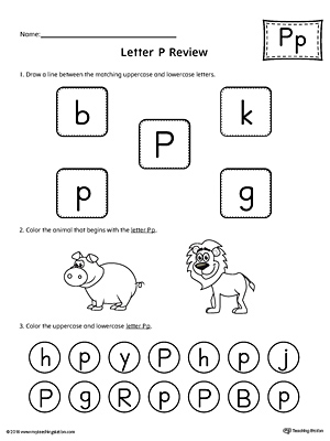 All About Letter P Printable Worksheet