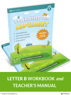 Learning the Alphabet Letter B Workbook in Color