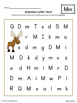 Alphabet letter hunt letter m worksheet color myteachingstation alphabet letter hunt letter m worksheet color thecheapjerseys Gallery
