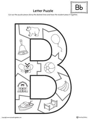 printable letter b outline print letter b letter b puzzle printable myteachingstation 955