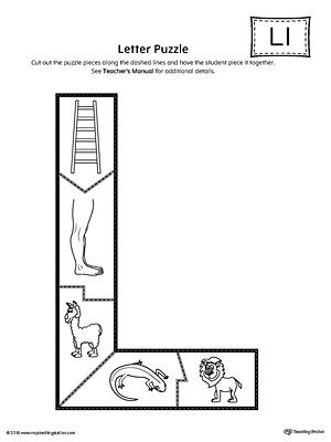letter l puzzle printable. Black Bedroom Furniture Sets. Home Design Ideas