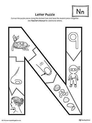 letter n puzzle printable. Black Bedroom Furniture Sets. Home Design Ideas