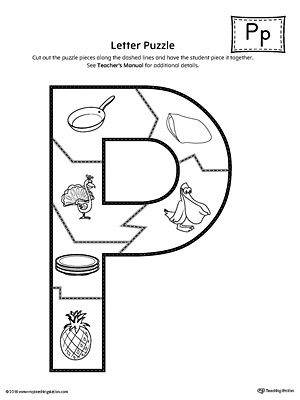 letter p worksheets letter p puzzle printable myteachingstation 44293