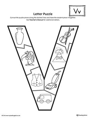 letter v puzzle printable. Black Bedroom Furniture Sets. Home Design Ideas