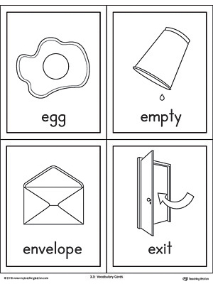 photo relating to Printable E known as Letter E Text and Images Printable Playing cards: Egg, Vacant