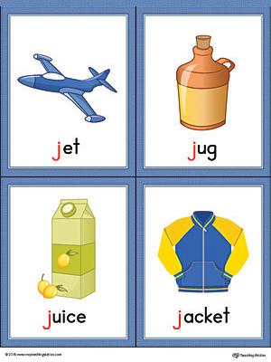 letter j words preschool letter j words and pictures printable cards jet jug 808