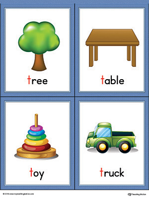 words with letter t letter t words and pictures printable cards tree table 985