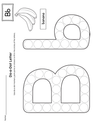 Letter B Do-A-Dot Worksheet