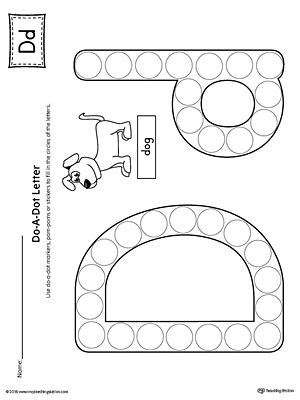 photo about Letter D Printable referred to as Letter D Do-A-Dot Worksheet