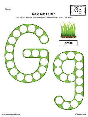 Letter G Do-A-Dot Worksheet (Color)