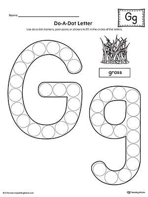 letter g do a dot worksheet