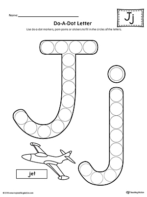 Worksheets Letter J Worksheet learning the letter j worksheet myteachingstation com do a dot worksheet