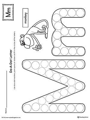Letter M Do A Dot Worksheet Myteachingstation