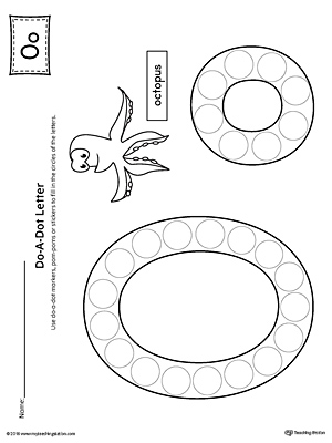 Letter O Do-A-Dot Worksheet