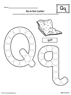 Letter Q Do-A-Dot Worksheet