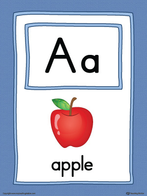 Letter A Large Alphabet Picture Card Printable (Color)