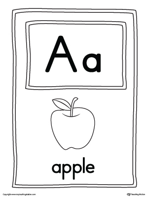 Letter A Large Alphabet Picture Card Printable