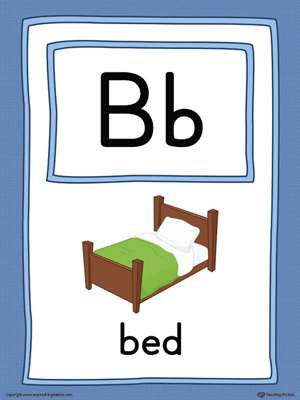 Letter B Large Alphabet Picture Card Printable (Color)