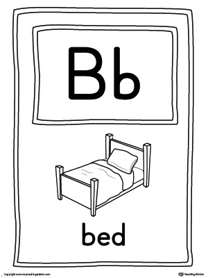 graphic relating to Printable Letter Cards titled Letter B Hefty Alphabet Think about Card Printable