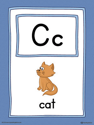 Letter C Large Alphabet Picture Card Printable (Color)