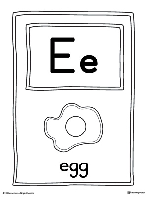 graphic about Letter E Printable named Letter E Higher Alphabet Envision Card Printable