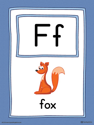 Letter F Large Alphabet Picture Card Printable (Color)