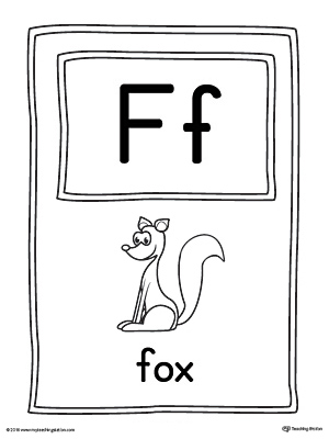 Letter F Large Alphabet Picture Card Printable