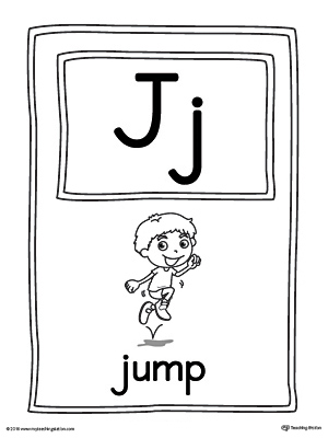 Letter J Large Alphabet Picture Card Printable