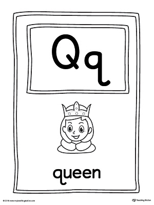 Letter Q Large Alphabet Picture Card Printable