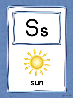 Letter S Large Alphabet Picture Card Printable (Color)