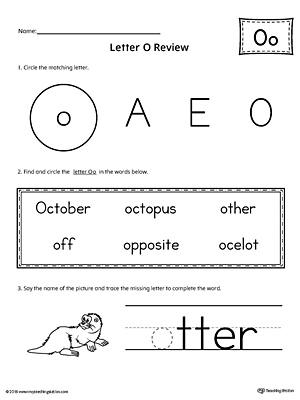 Learning the Letter O Worksheet