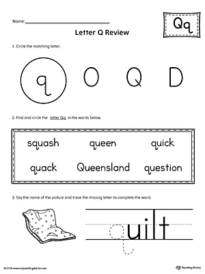 Learning the Letter Q Worksheet